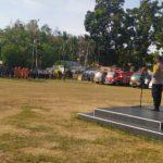 Polres Boalemo Menggelar Apel Kesiapan Siagaan Antisipasi Bencana Alam di Kabupaten Boalemo
