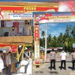 Kabag Ren Polres Boalemo Lakukan Pengecekan Kampung Tangguh Di Desa Bendungan