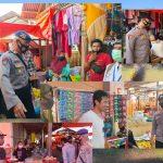 Para Pedagang Dan Pembeli Di Pasar Kamis Tilamuta Yang Tidak Patuh Prokes Tak Luput Dari Pemeriksaan Operasi Gabungan Yustisi Polres Boalemo