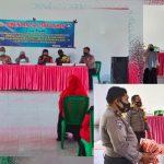 Dalam Rangka Pembentukan Kampung Tangguh Nusantara Satbinmas Polres Boalemo Berikan Pembekalan Kepada Para Pengurus