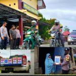 Dalam Situasi PPKM, Polres Boalemo Beri Bantuan Sembako Ke Masyarakat