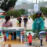 Kasat Binmas AKP Sarengat Himbau Masyarakat Desa Mohungo, Waspada Banjir