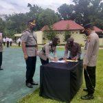 Tiga Pejabat Polres Bone Bolango Di Serah terimakan