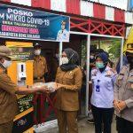Wakapolres Bone Bolango Bersama Tim Satgas Covid-19 Melaksanakan Kunjungan Ke Pos Pemberlakuan Pembatasan Kegiatan Masyarakat (PPKM) Berskala Mikro