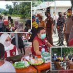 Tinjau Vaksinasi Massal , Kapolres Bone Bolango Bersama Forkopimda beri bantuan kepada masyarakat di Kecamatan Bone