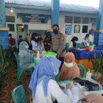 Kapolres Bone Bolango Cek Pelaksanaan Vaksinasi Covid 19 di Kecamatan Tapa