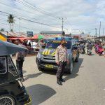 Sambangi Pasar Tradisional, Patroli Polsek Tapa Ingatkan masyarakat patuhi Prokes Covid 19