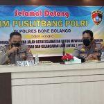 Tim Puslitbang Polri laksanakan Penelitian Optimalisasi Tingkat Pengguna Jalan di Polres Bone Bolango