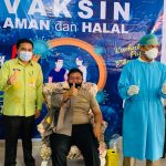 Kapolres Pohuwato Ikuti Penyuntikan Vaksinasi Tahap II di RS Panua Kabupaten Pohuwato.