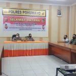 Polres Pohuwato Terima Kunjungan Dari Puslitbang Polri Dalam Rangka Penelitian.