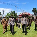 Kapolda Gorontalo Tinjau Pelaksanaan Vaksin Massal Di Polres Pohuwato
