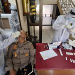 Putuskan Penularan Covid-19, Para Pejabat Utama Polda Gorontalo Kembali Jalani Test Rapid Antigen