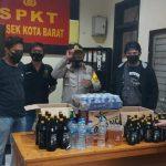 Cegah Kriminalitas, Polsek Kota Barat Sita Puluhan Botol Miras