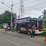 Jelang Hari Raya Ketupat Di Provinsi Gorontalo, Personil Dit Binmas Polda Gorontalo Memberikan Himbauan Protokol Kesehatan