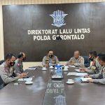 Puslitbang Polri Sambangi Ditlantas Polda Gorontalo, Lakukan Penelitian Optimalisasi Kamseltibcarlantas TA.2021